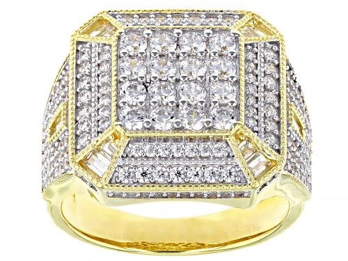 Photo of Pre-Owned Bella Luce ® 3.36ctw Rhodium Over Silver And Eterno™ Yellow Men's Ring (2.06ctw DEW) - Size 10