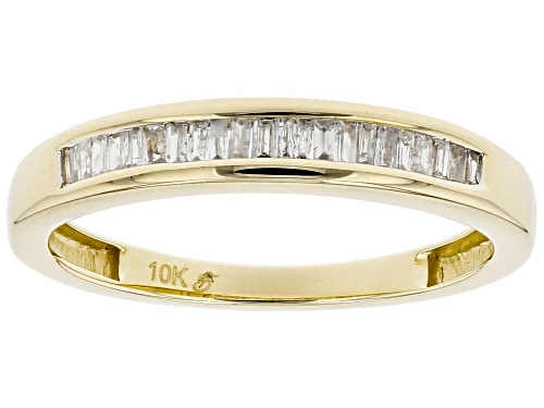 Photo of Pre-Owned 0.15ctw Baguette White Diamond 10k Yellow Gold Band Ring - Size 7