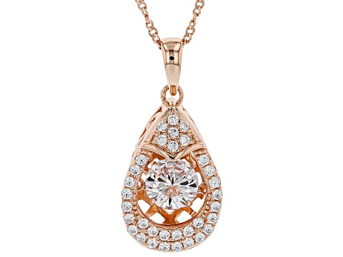 """Photo of Pre-Owned Bella Luce ® 1.86ctw Round Eterno ™ Rose """"Dancing Bella"""" Pendant With Chain"""