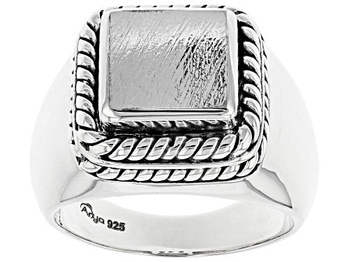 Photo of Pre-Owned Artisan Collection of India™ Mens Meteorite Sterling Silver Ring - Size 13