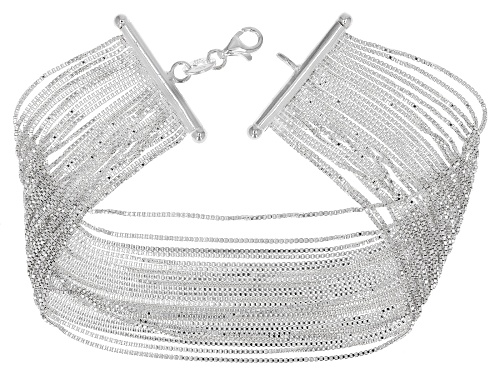 Photo of Pre-Owned Sterling Silver Multi-Strand Box Link 7.5 Inch Bracelet - Size 7.5