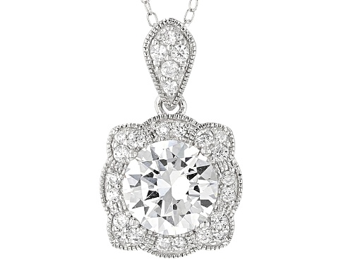 Photo of Pre-Owned Vanna K ™ For Bella Luce ® 3.45ctw Diamond Simulant Platineve® Pendant With Chain