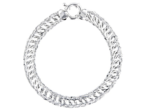 Photo of Pre-Owned Sterling Silver Designer Curb Link Bracelet 8 Inch - Size 8