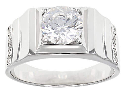 Photo of Pre-Owned Bella Luce ® 3.47ctw Rhodium Over Sterling Silver Men's Ring (2.11ctw DEW) - Size 9