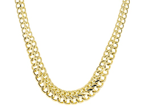 Photo of Pre-Owned 10K Yellow Gold 9.23MM-5.0MM Graduated Double Curb Chain 20 Inch Necklace - Size 20
