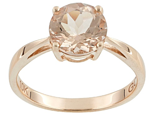 Photo of Pre-Owned 1.50ct Round Cor-De-Rosa Morganite™ 10k Rose Gold Solitaire Ring - Size 8