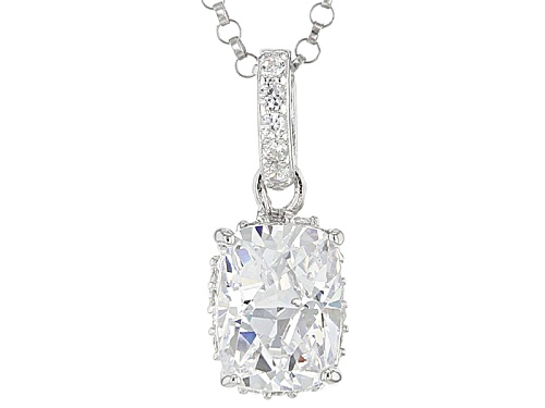 Photo of Pre-Owned Tycoon For Bella Luce ® 3.00ctw Diamond Simulant Platineve® Pendant With Chain