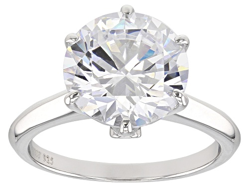 Photo of Pre-Owned Charles Winston For Bella Luce ® 7.99CTW Diamond Simulant Rhodium Over Silver Ring (5.06CT - Size 11