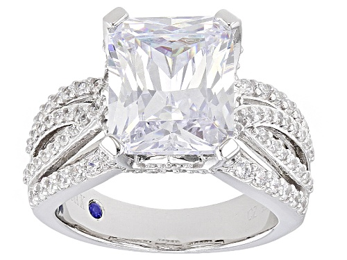 Photo of Pre-Owned Vanna K ™ For Bella Luce ® 12.91ctw White Diamond Simulant Platineve® Ring (7.18ctw Dew) - Size 9