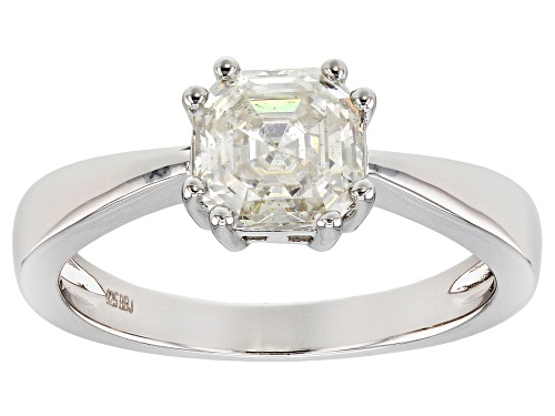 Photo of Pre-Owned MOISSANITE FIRE® 1.50CT DEW ASSCHER CUT PLATINEVE™ RING - Size 9