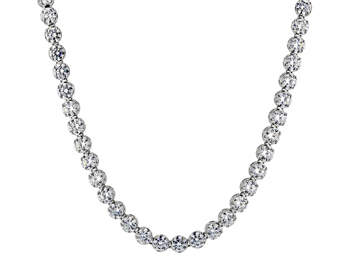 Photo of Pre-Owned Charles Winston For Bella Luce ® 58.46ctw Rhodium Over Sterling Silver Necklace (34.04ctw - Size 18