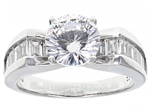 Photo of Pre-Owned Bella Luce ® 4.79ctw Rhodium Over Sterling Silver Ring - Size 10
