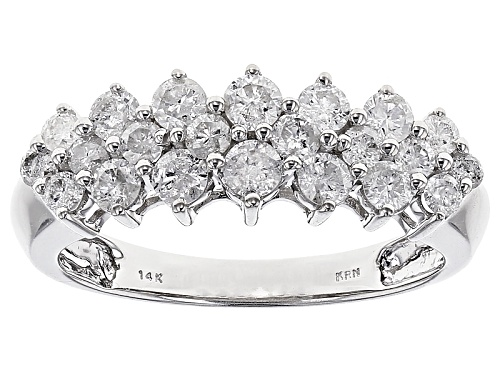 Photo of Pre-Owned 1.00ctw Round Diamond 14k White Gold Ring - Size 7
