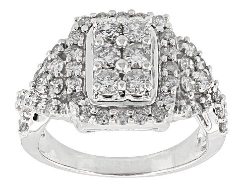 Photo of Pre-Owned 1.50ctw Round White Diamond 10k White Gold Ring - Size 8.5