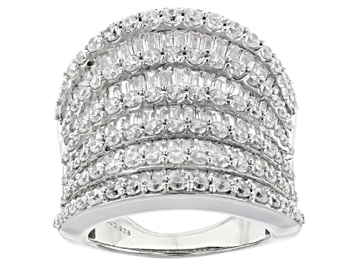 Photo of Pre-Owned Bella Luce ® 7.89ctw Rhodium Over Sterling Silver Ring (5.88ctw DEW) - Size 9