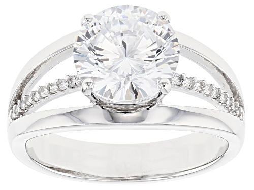 Photo of Pre-Owned Bella Luce ® 4.75ctw Dillenium Rhodium Over Sterling Silver Ring (2.84ctw DEW) - Size 10