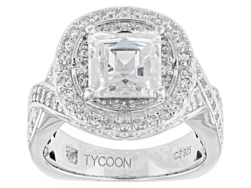 Photo of Pre-Owned Tycoon For Bella Luce ® 3.82ctw Platineve® Ring (2.54ctw Dew) - Size 7