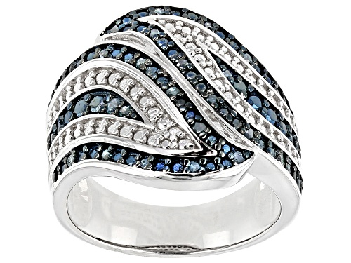Photo of Pre-Owned 0.30ctw Round Blue Velvet Diamonds™ Rhodium Over Sterling Silver Ring - Size 8