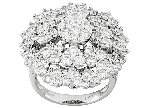Photo of Pre-Owned Bella Luce ® 6.23ctw Rhodium Over Sterling Silver Ring (3.35ctw Dew) - Size 5