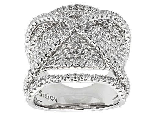 Photo of Pre-Owned Bella Luce ® 2.84ctw Round Rhodium Over Sterling Silver Ring (1.87ctw Dew) - Size 6