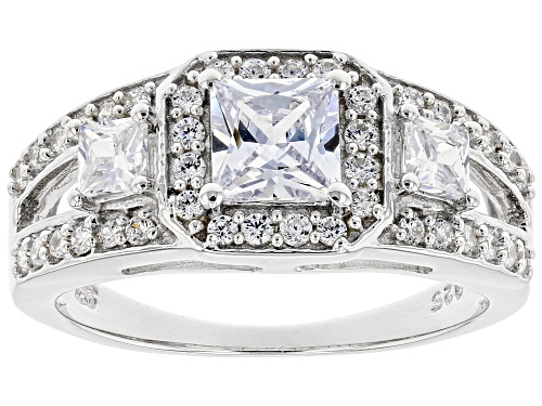 Photo of Pre-Owned Bella Luce ® 2.29ctw Rhodium Over Sterling Silver Ring (1.47ctw DEW) - Size 5