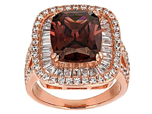 Photo of Pre-Owned Bella Luce ® Esotica ™ 11.12ctw Blush Zircon And White Diamond Simulants Eterno ™ Rose Rin - Size 10
