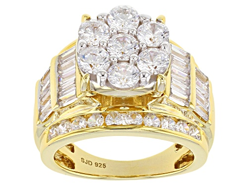 Photo of Pre-Owned Bella Luce ® 7.14ctw Round And Baguette Eterno (TM) Yellow Ring - Size 10