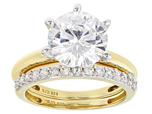 Photo of Pre-Owned Bella Luce ® 7.03ctw White Diamond Simulant Eterno ™ Yellow Solitaire Ring With Band (4.12 - Size 9