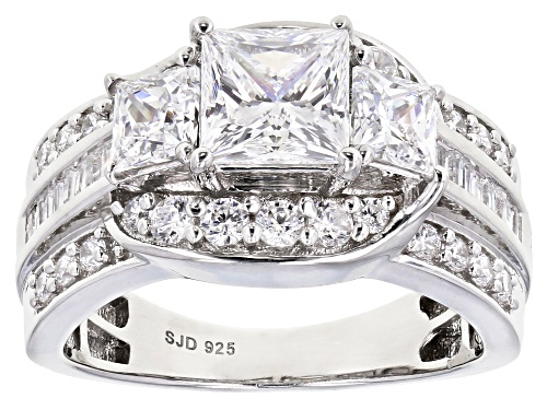 Photo of Pre-Owned Bella Luce ® 4.70ctw Rhodium Over Sterling Silver Ring (2.89ctw DEW) - Size 9