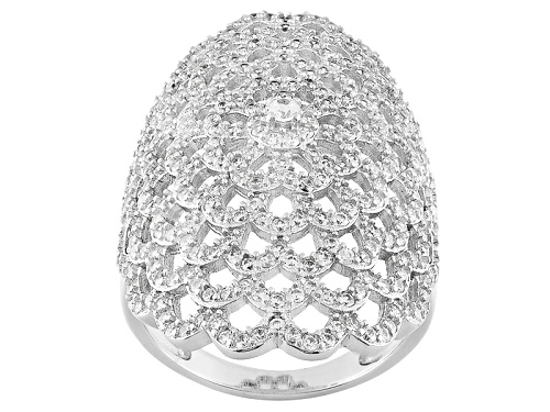 Photo of Pre-Owned Bella Luce ® 3.09ctw Rhodium Over Sterling Silver Ring (1.54ctw Dew) - Size 5