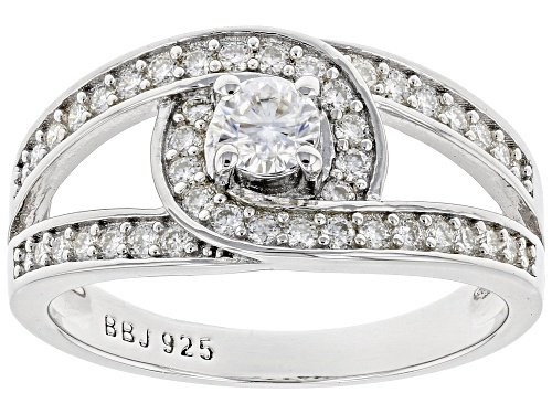 Photo of Pre-Owned MOISSANITE FIRE(R) .67CTW DEW ROUND PLATINEVE(R) RING - Size 7