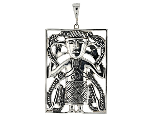 Photo of Pre-Owned Artisan Collection of Ireland™ Rectangular Sterling Silver Viking Man Enhancer