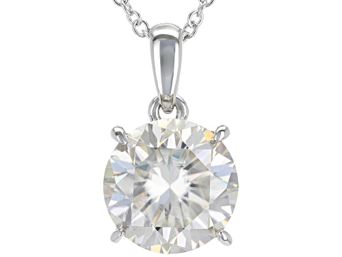 Photo of Pre-Owned MOISSANITE FIRE® 6.25CTW DIAMOND EQUIVALENT WEIGHT ROUND PLATINEVE™ PENDANT WITH CHAIN