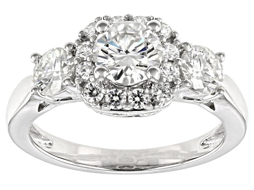 Photo of Pre-Owned MOISSANITE FIRE(R) 1.82CTW DEW ROUND PLATINEVE(R) RING - Size 7