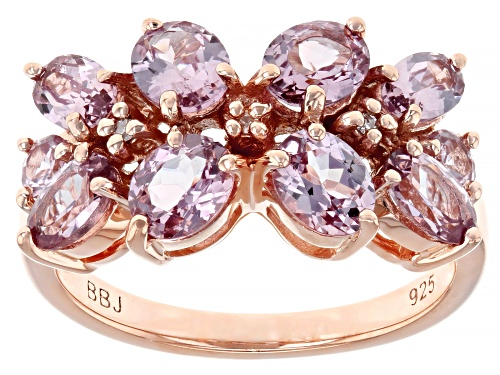 Photo of Pre-Owned 2.38CTW COLOR SHIFT GARNET WITH .01CTW WHITE DIAMOND ACCENT 18K ROSE GOLD OVER SILVER RING - Size 7