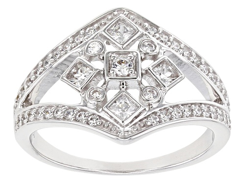 Photo of Pre-Owned Bella Luce ® 0.95ctw Rhodium Over Sterling Silver Ring (0.56ctw DEW) - Size 7
