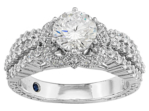 Photo of Pre-Owned Vanna K ™ For Bella Luce ® 2.69ctw Vanna K Cut Round Platineve® Ring (1.74ctw Dew) - Size 7
