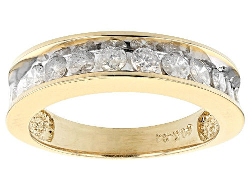 Photo of Pre-Owned 1.00ctw Round White Diamond 14K Yellow Gold Band Ring - Size 5