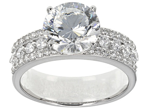 Photo of Pre-Owned Bella Luce ® Dillenium Cut 5.70ctw Round Rhodium Over Sterling Silver Ring - Size 7
