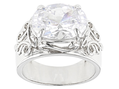 Photo of Pre-Owned Bella Luce ® 10.28ctw Rhodium Over Sterling Silver Ring (6.05ctw DEW) - Size 9