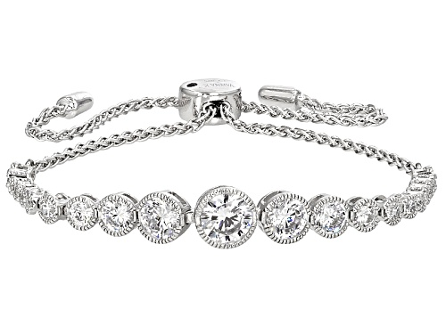 Photo of Pre-Owned Vanna K ™ For Bella Luce ® 4.56ctw Platineve® Adustable Bracelet (2.78ctw Dew)