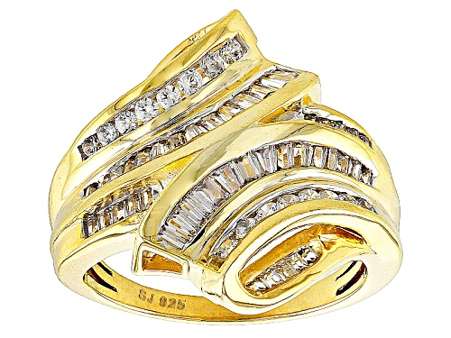 Photo of Pre-Owned Bella Luce ® 1.92ctw Diamond Simulant Baguette & Round Eterno ™ Yellow Ring (1.40ctw Dew) - Size 7