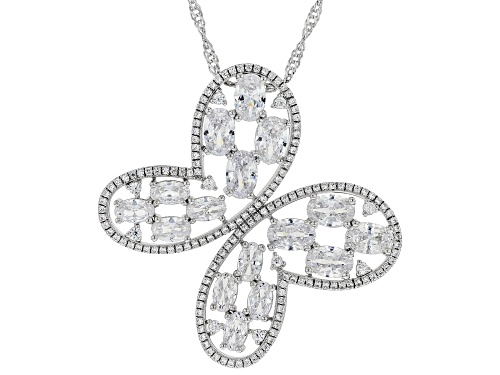 Photo of Pre-Owned Bella Luce ® 10.57ctw Rhodium Over Sterling Silver Butterfly Pendant With Chain (5.64ctw D
