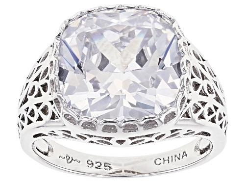 Photo of Pre-Owned Bella Luce ® 10.35ctw Rhodium Over Sterling Silver Ring (6.84ctw DEW) - Size 6