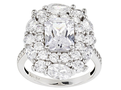 Photo of Pre-Owned Bella Luce ® 8.44ctw Rhodium Over Sterling Silver Ring - Size 6
