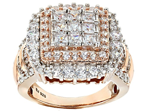 Photo of Pre-Owned Bella Luce ® 4.95ctw Diamond Simulant Eterno ™ Rose Ring (3.51ctw Dew) - Size 5