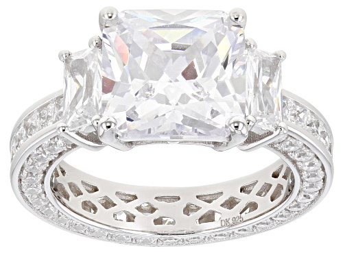 Photo of Pre-Owned Bella Luce ® 13.37ctw Rhodium Over Sterling Silver Ring - Size 10