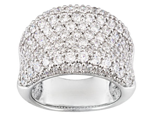 Photo of Pre-Owned Bella Luce ® 5.67ctw Rhodium Over Sterling Silver Ring - Size 5