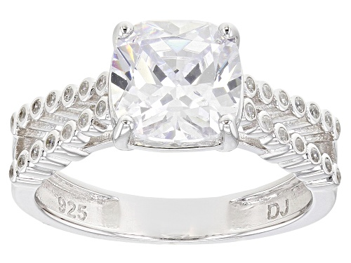 Photo of Pre-Owned Bella Luce ® 4.25ctw Rhodium Over Sterling Silver Ring (2.18ctw DEW) - Size 10