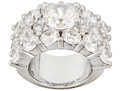 Photo of Pre-Owned Jose Hess ™ For Bella Luce ® 18.90ctw Rhodium Over Sterling Silver Ring - Size 6
